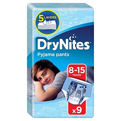 Huggies DryNites 8-15 Jahre für Jungen 27-57kg 9 pro Packung