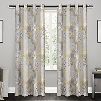 exclusive home curtains patchwork cotton grommet top window curtain panel pair sundress 54x84