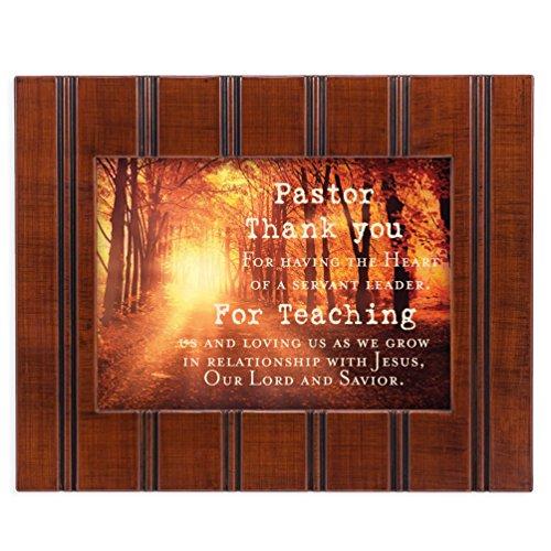 Pastor Thank You 8x10 Woodgrain Framed Art Wall Plaque Sign