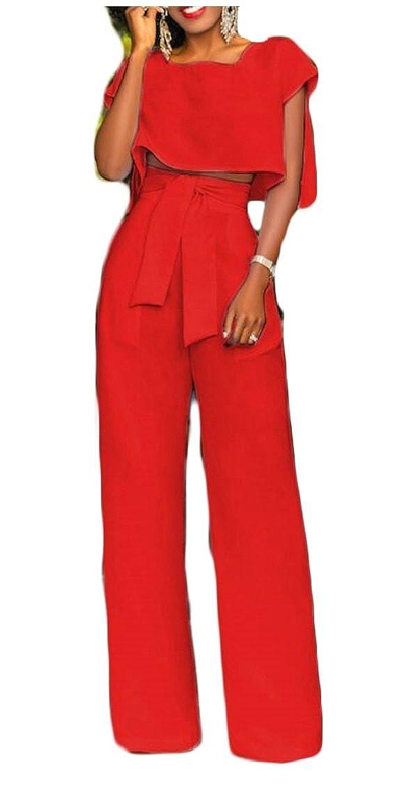 Gocgt Women 2 Piece Outfits Letter Print Short Sleeve Crop Top Bodycon Long Pants
