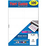 Pack of 100 Small Tent Cards, 2 x 3.5