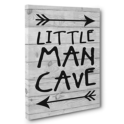 Little Man Cave Personalized Boys Room Decor CANVAS Wall Art