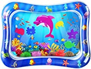 ZMLM Baby Tummy-Time Water Mat: Infant Toy Gift Activity Play Mat Inflatable Sensory Playmat Babies Belly Time