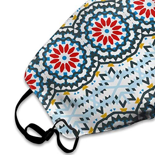 Mask Washable Warm Bohemian Flowers Reusable Geometric dust Unisex Sdgss Fashion Anti Mouth tribal Mask xqw61Fa