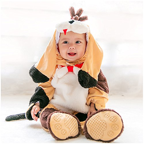 Cow Bunting Costume (Infant Costume, MagicQK Christmas Animal Toddler Costumes Baby Onesie from 3-Month to 3 Years Old (18-24 Months(2T)/M/30