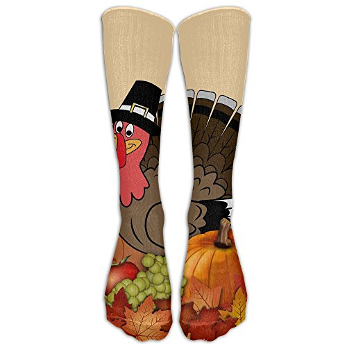 Xngtax Thigh High Socks Happy Thanksgiving Womans Mens Fashion Champion Athletic Leggings Knee High Stockings For Dress Sport