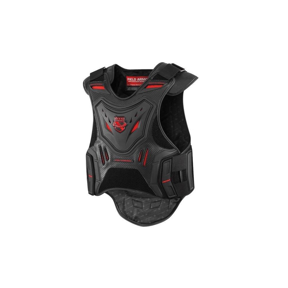 Icon Stryker Vest Men's Field Armor Street Motorcycle Body Armor - Black / Small/Medium