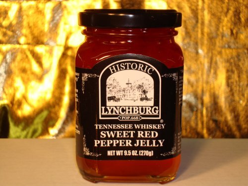 Historic Lynchburg Tennessee Whiskey Sweet Red Pepper Jelly (Red Pepper Crackers)