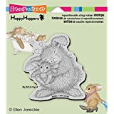 Stampendous HappyHopper Cling Stamp 3.5 x 4-inch, Bunny Luv