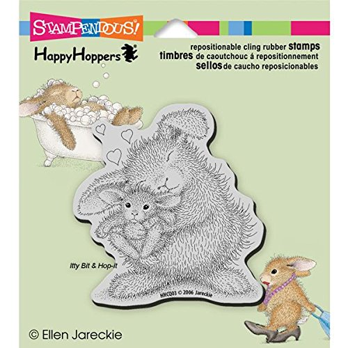 - Stampendous Happyhopper Cling Rubber Stamp, 3.5 by 4-Inch, Bunny Luv