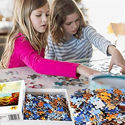 1000 Pieces Difficult Jigsaw Puzzle for Adults/Kids,Cute Dog Puzzles Children's Interesting Jigsaw Puzzle Set - Artifact Puzzles Blue: Clothing