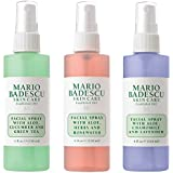Mario Badescu Spritz Mist and Glow Facial Spray Collection Trio, Lavender, Cucumber, Rose