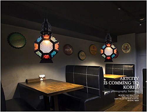 Vintage Hotel Bar Projector Lamp Moroccan Thai Bar Lounge Corridor Aisle pendant lamp lo118515py ( Size : D20cm ) by SUPPER PP