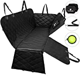 BarkinBuddy Dog Car Seat Cover - Pet Car Seat Cover with Full Doors Protection - Dog Seat Covers for Cars, SUV, Trucks with 2 Headrest Covers, Collapsible Bowl, Dog Seat Belt