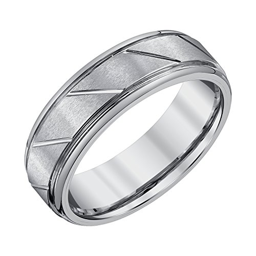 AX Jewelry Mens 7mm Tungsten Wedding Band