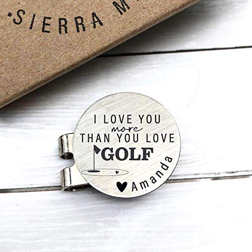 Golf Ball Marker Golf Gift Valentines Day Gift for Husband Gift For Valentines Day For Him Men