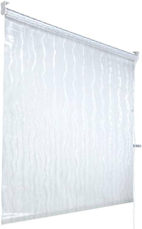 Aquamarin – Cortina transparente enrollable para la ducha – 100 x ...