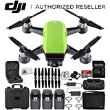 DJI Spark Portable Mini Drone Quadcopter Fly More Combo Portable Bag Shoulder Travel Case Bundle With Extra Battery (Meadow Green)