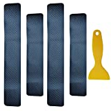 Naviurway 4 Pcs/set Universal Soft Carbon Fiber Sticker Anti Scratch Car Door Sill Protector Scuff Plate Cover