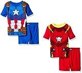Marvel Boys' Avengers 4pc Uniform Pajama Short Set