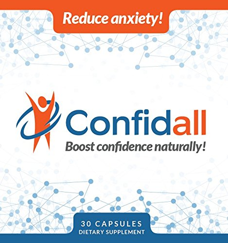 CONFIDALL - Confidence Boosting Anti Anxiety Anti Depressant Positive Mood Enhancer 5HTP GABA Nootropic Supplement Reduce Stress Increase Focus Be Calm Relax 30 Capsules New by Confidall (Image #4)