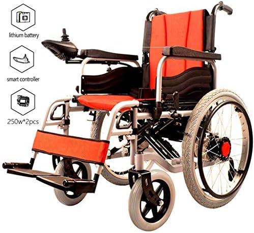 実用的 ポータブル折りたたみ電動車いす、12AHリチウム電池20キロ長いバッテリ寿命ライト車いす、インテリジェントコントローラ、障害者のポータブル電動車いす 福祉