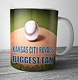 Kansas City Royals Biggest Fan Baseball Mug - Birthday Gift / Stocking Filler (7 - 10 BUSINESS DAYS DELIVERY FROM UK)