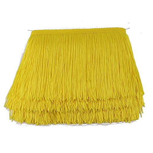 - Heartwish268 Fringe Trim Lace Polyerter Fibre Tassel 6inch Wide 10 Yards Long for Clothes Accessories Latin Wedding Dress DIY Lamp Shade Decoration Black White Red(Yellow)