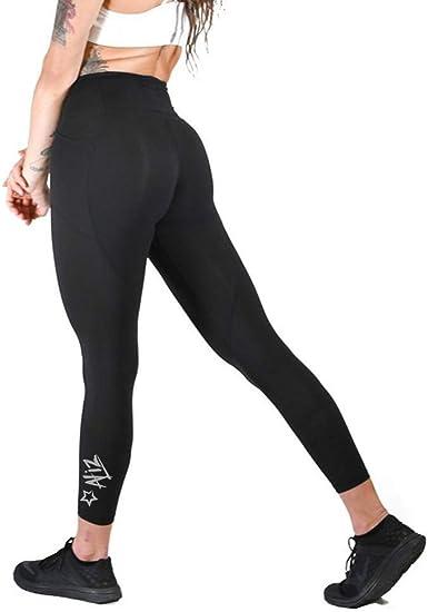 Workout running leggings Black Star Aliz Yoga Pants with Phone Pockets