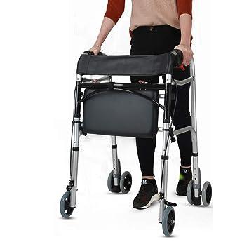 H.aetn Andador de rehabilitación para Ancianos de Cuatro Ruedas ...