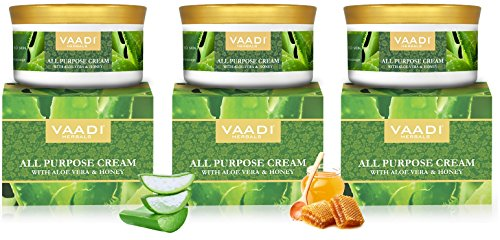 Amazon.com : All Purpose Skin Cream | Skin, Hair, Anti Aging, Stretch Marks 16 Oz(Pack of 3 X 150 Gms) | All Natural Ingredients - Vaadi Herbals : Beauty