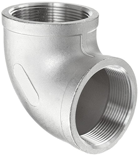 Merit Brass K601-16 Stainless Steel 316 Cast Pipe Fitting, 90 Degree Elbow, Class 150, 1