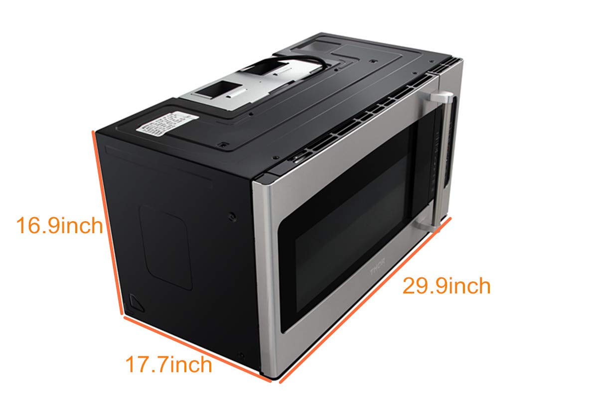 Thor kitchen 30micor 30in. W 1.7 cu. ft Over the Range Microwave in Stainless Steel with Sensor Cooking OTR, Large, by Thor Kitchen (Image #5)