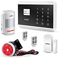 KERUI Wireless 3G GSM PSTN Home Security Alarm System DIY Kit,Auto Dial IOS Android APP TFT Color Display 8219G
