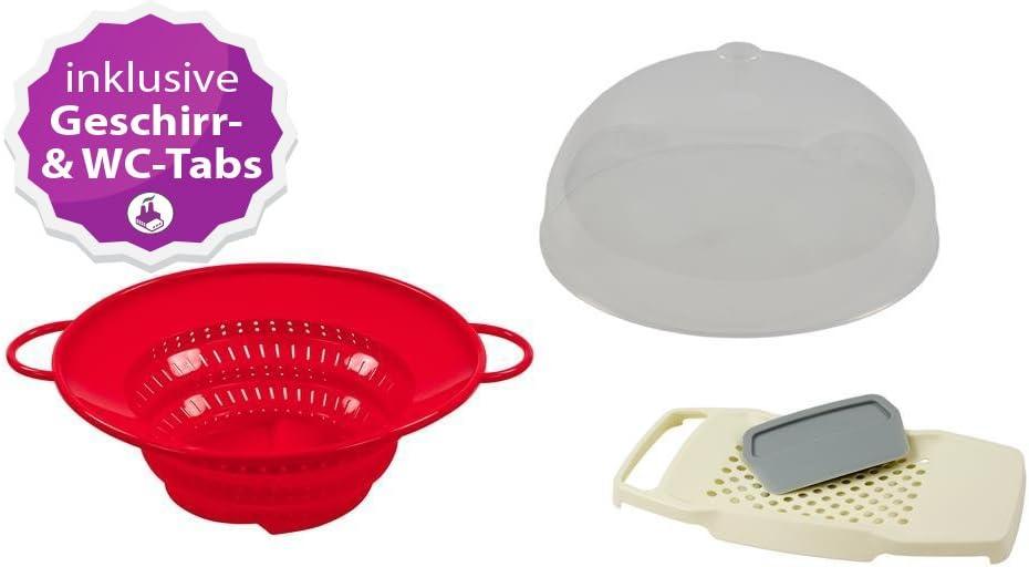 Compra Koch Maravillas Set Completo multifunción de Colador, campana extractora & Spätzle – Tabla el producto original de la TV. Color Rojo – Incluye innovadora para inodoro y pastillas lavavajillas en Amazon.es