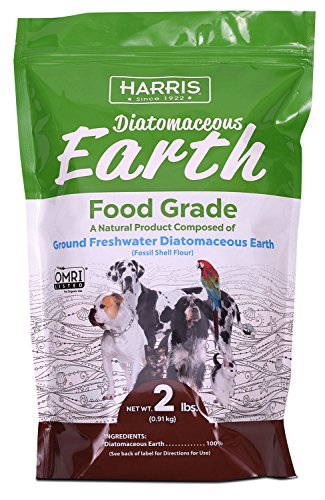 - Harris Food Grade Diatomaceous Earth for Pets, Health Supplement for Cats, Dogs and Pets, 2lb
