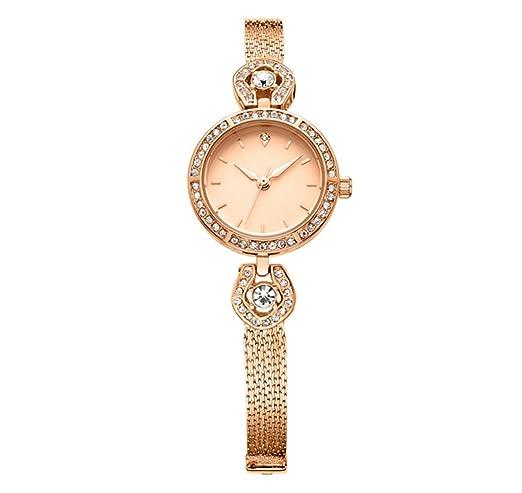 Reloj para mujer 2018 Nuevo reloj de pulsera de moda Reloj de diamante para reloj: Amazon.es: Relojes