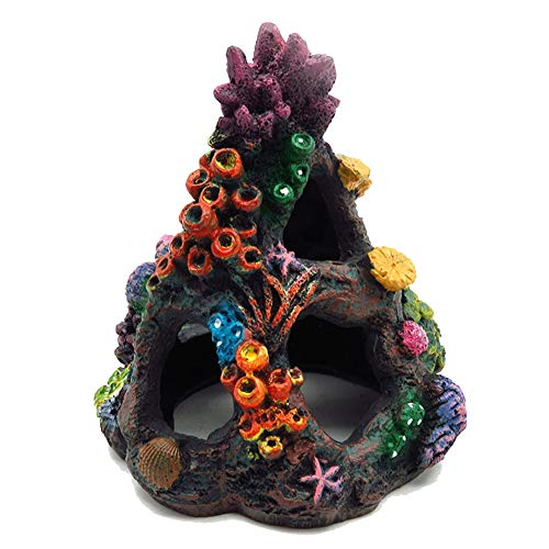 Tutuziyyy Aquarium Volcanic Coral Stone Aquarium Landscape Decoration Painted Coral Reef Ornament