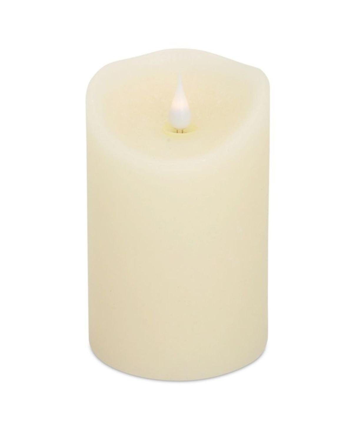 Pack of 4 Decorative Designer Simplux LED Cream Candle with Flame 5.5''