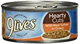 9 Lives Hearty Cut/Turkey, 4.0 Count (Pack of 6)