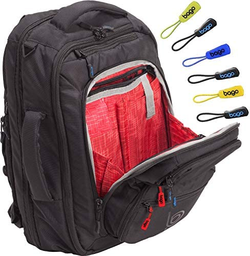 Bago Commuter Backpack for Men Women – 17 Laptop Backpack bag With Multi Compartments – TSA Friendly – Holiday Travel Gift