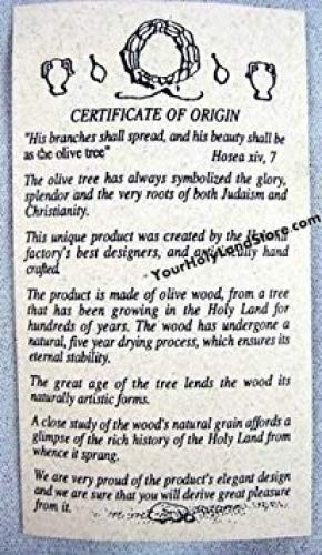 Yourholylandstore Ten Commandments Olive Wood Mezuzah + Shema Scroll by YourHolyLandStore by YourHolyLandStore (Image #2)