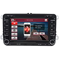 Universal Volkswagen VW Stereo Receiver System for Passat, Jetta, Tiguan, CC, Golf (GPS Navigation, Bluetooth, CD/DVD Player, 7'' HD Touchscreen, AM/FM Radio, Double DIN) PVWMULTI07