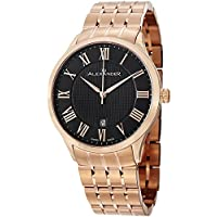 Alexander Statesman Triumph Men's Black Dial Rose Gold Plated Swiss Made Watch