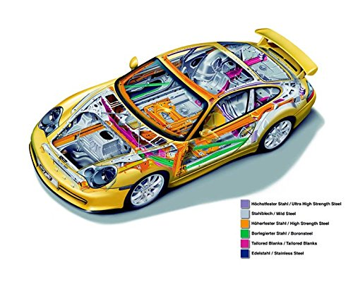 996 Body - 2003 Porsche 911 996 GT3 Body Shell Structure Photo Poster