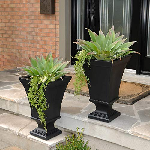 (Vienna Planter 2-pack Made of High-grade Polyethylene (BLACK))