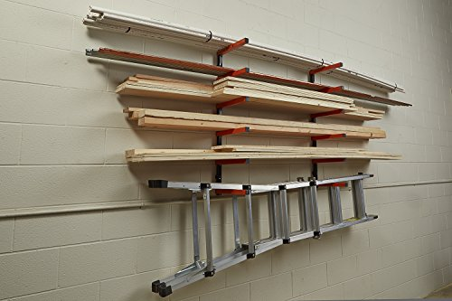 Lumber storage rack portamate pbr 001 six level wall for Lumber yard storage racks
