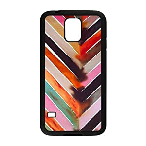 Customized AXL375492 Hard Back Plastic Cover Case For SamSung Galaxy S5 I9600 Phone Case w/ Chevron Waves Pattern