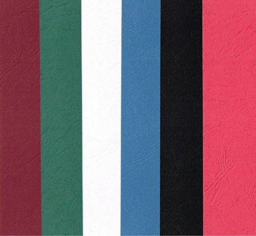 24 X Blank Card Bookmarks. Leather Look Embossed Pattern Card. Red, White, Black, Green, Blue, Burgundy. by UK Card Crafts from UK Card Crafts