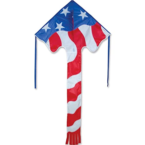 amazon com kite large easy flyer patriotic flag 46 x 90